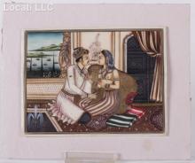 Indian School, 20th Century, Gouache on Bone