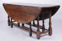 A 20th Century Continental Oak Harvest Table