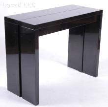 A Black Lacquered Modernist Dining Table