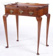 A Queen Anne Style Tray Top Tea Table