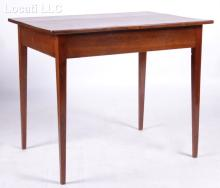 An American Walnut Hepplewhite Side Table