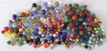 A Large Group of Glass and Clay Marbles