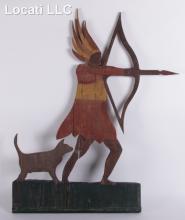An American Folk Art Wooden Carving