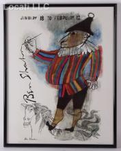 A Framed Ben Shahn Exhibition Poster