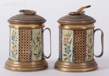 A Pair of Tole Bougie Boxes, Early 19th Century