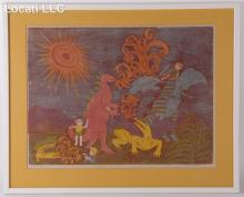 Margery Niblock (American, 20th Century) Color Etching