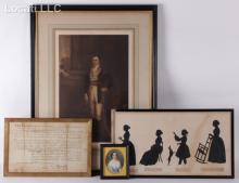 A Group of Material Related to the Livingston Family of New York Including Silhouette by Auguste Edouart
