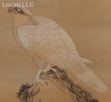 A Japanese Scroll Painting, Ink and Color on Silk