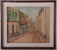 Lucio Rivas (20th century) Watercolor