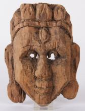 An Indian Carved Wood Mask