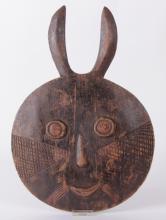 A Baule Style Wooden Goli Face Mask