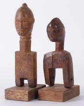 Two Figural Pulleys from the Ivory Coast