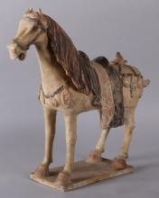 A Chinese Tang Dynasty Pottery Horse