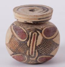 A Decorated Clay Oil Jar, Archaic