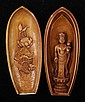 A Two Part Japanese Carved Ivory Travel Shrine