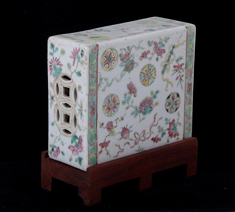 A 19th Century Chinese Porcelain Pillow