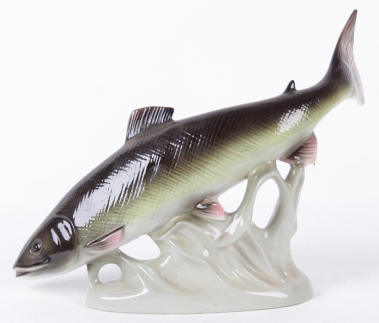 Royal Dux Porcelain Trout