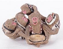 A Japanese Sumida Gawa Monkey Group