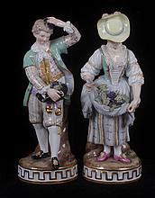 A Pair of 19th Century Meissen Figures