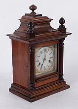 A Mahogany Shelf Clock by The Hamburg American Clock Company
