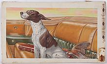 American School, Early 20th Century, Illustration with Hunting Dog
