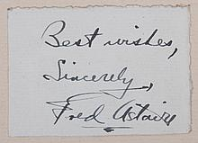 Fred Astaire, Cut Signature