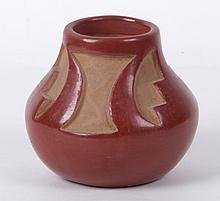 A Santa Clara Pottery Redware Vase