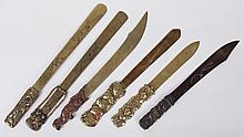 Estate Lot: A Group of Japanese Letter Openers