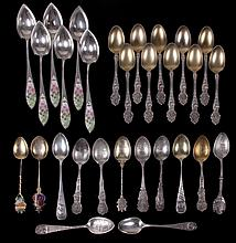 A Group of Sterling Spoons Including Wallace Violet Pattern