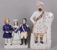 Two Large Staffordshire Figures, 19th Century