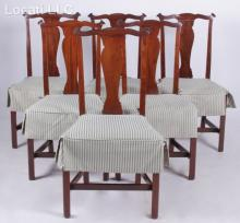 A Set of Chippendale Style Mahogany Side Chairs