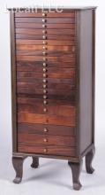 A Circa 1900 Mahogany Sheet Music Cabinet