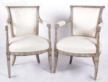 A Pair of French Empire Period Armchairs
