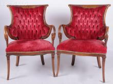A Pair of Continental Armchairs