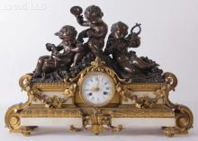 A French Bronze and Marble Shelf Clock