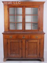 A Pennsylvania Walnut Step Back Cupboard