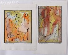 Carl Pappe (1900 - 1998) Mixed Media, Two Works