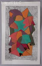 Carl Pappe (1900 - 1998) Mixed Media, 1981