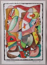 Carl Pappe (1900 - 1998) Mixed Media