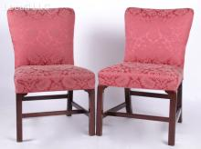 A Pair of Georgian Mahogany Side Chairs