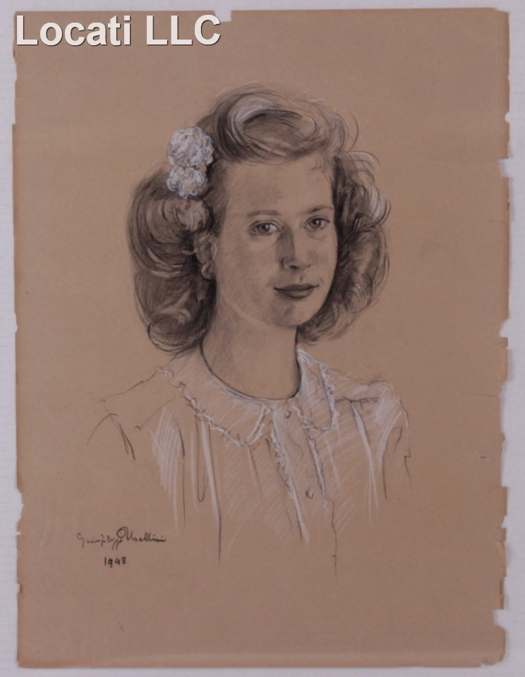 Gian Filippo Usellini  (1903 - 1971) Pastel on Paper