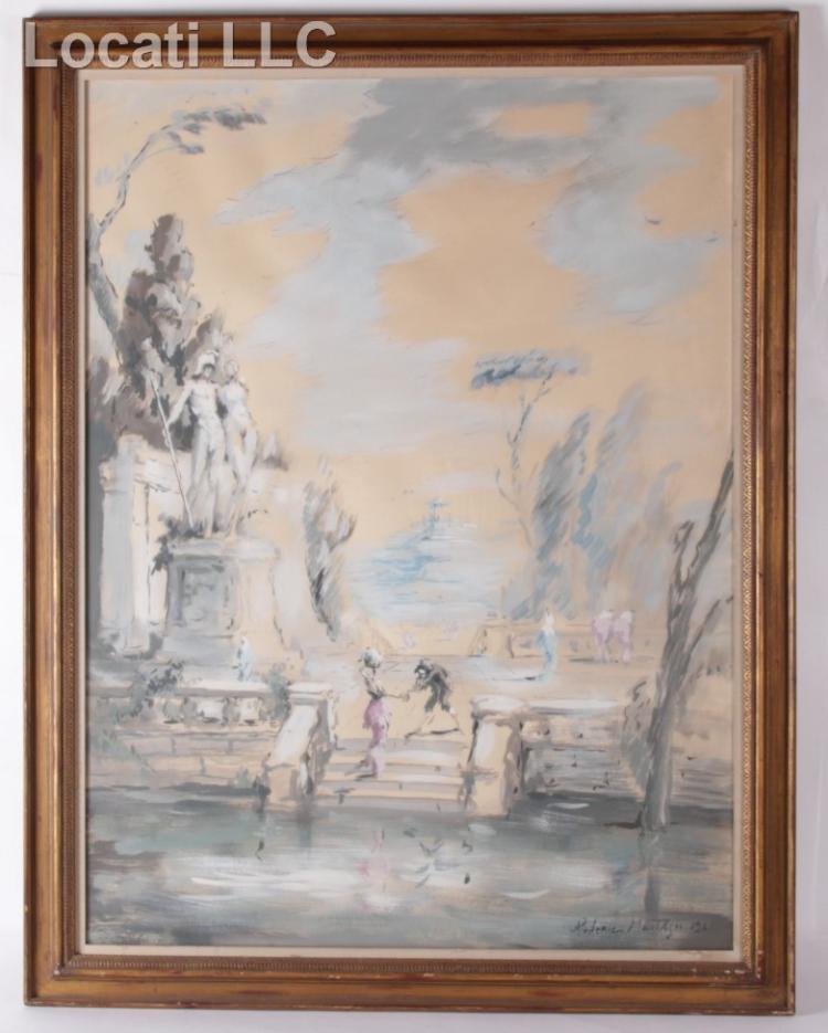 Roderic Montagu (1907 - 2001) Watercolor, Classical Scene
