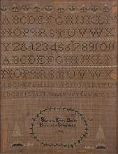 A Sampler by Sarah Epes Booth, Dated 1798