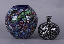 Two Art Glass Vases, Murano and Mikasa