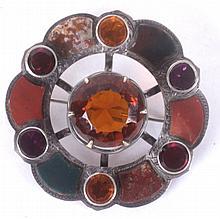 A Silver Scottish Pebble Brooch