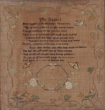 An American Sampler by Ann Pinkney, Dated 1792