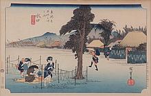 Ando Hiroshige (Japanese, 1797-1858) Woodblock Print