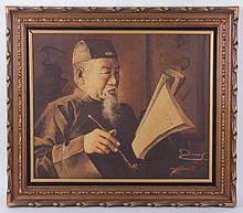H. Michel, Oil on Canvas, Chinese Subject