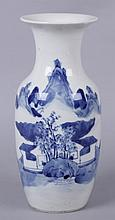 A Chinese Export Blue and White Porcelain Vase