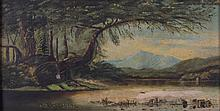 Hudson River Valley School, 19th Century, Oil on Board